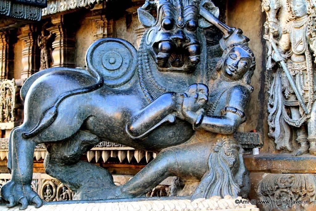 Hoysala Emblem at Chennakesava Temple, Belur