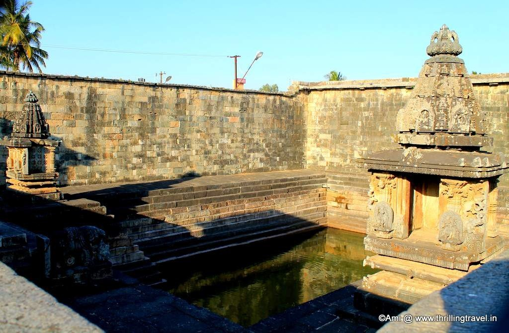 Stepwell or Pushkarni at Chennakesava temple, Belur