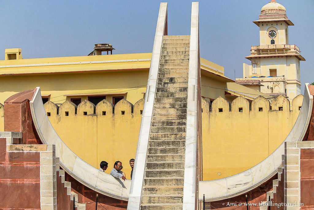 Laghu Samrat Yantra - the smaller of the Sundials
