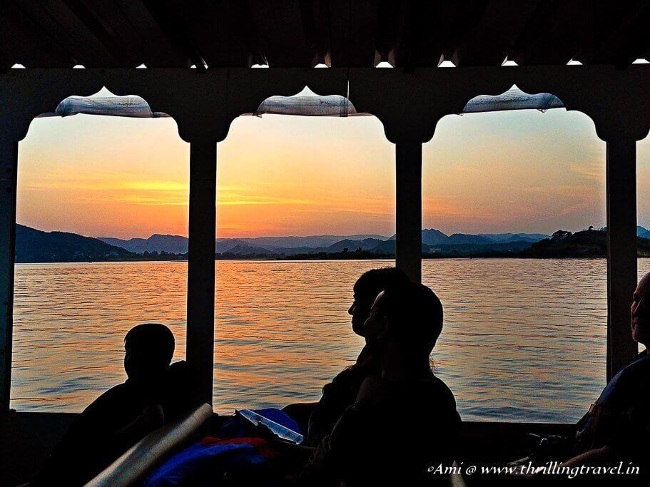 Boating on Lake Pichola
