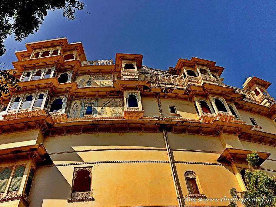 The part of the City Palace, still with the Royal Family, Udaipur