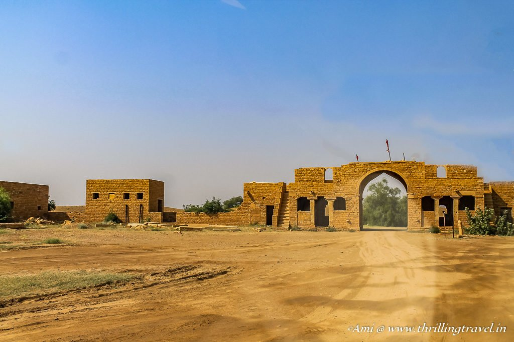 Entrance to ghost town of Kuldhara, Rajasthan