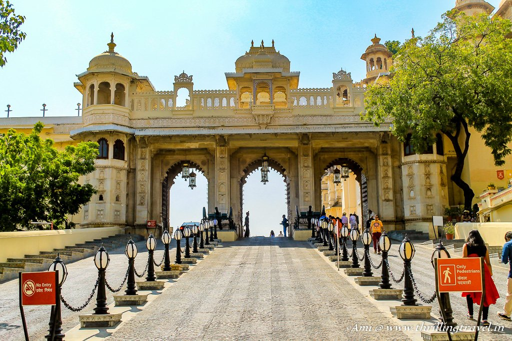 Tripolia Gate at City Palace in Udaipur