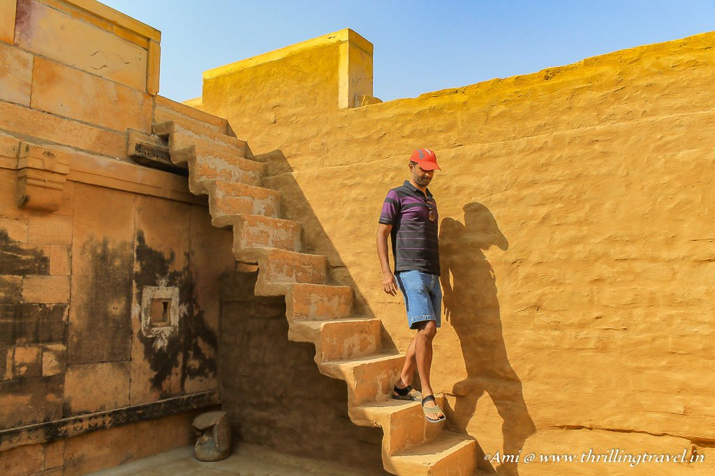 Inside a reconstructed home of Kuldhara Village