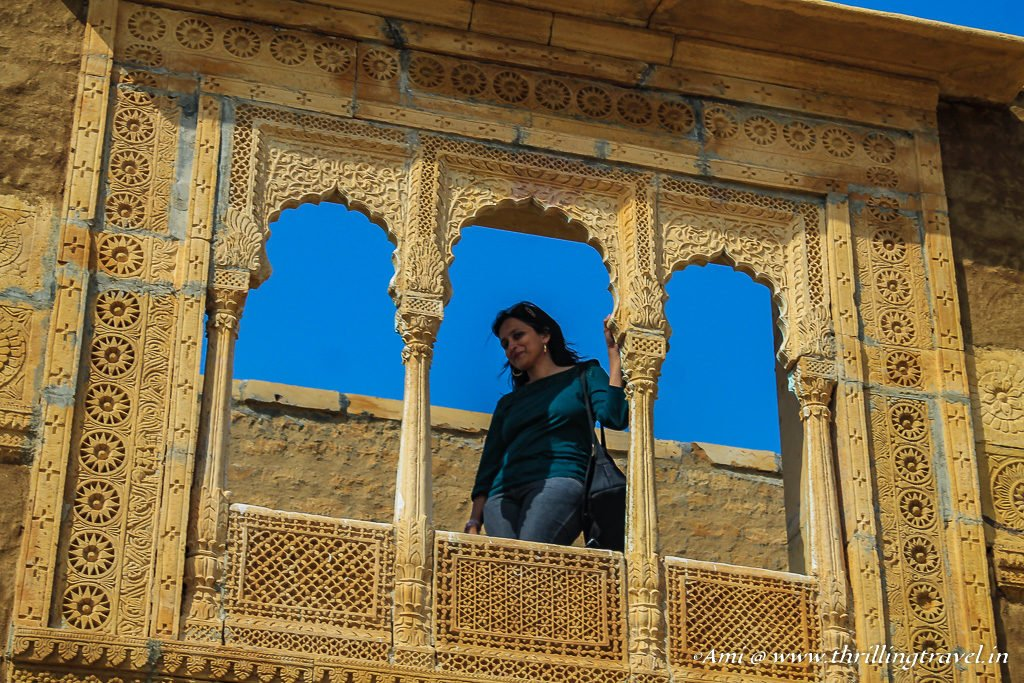 The traditional artistic Balconies of a home in Kuldhara