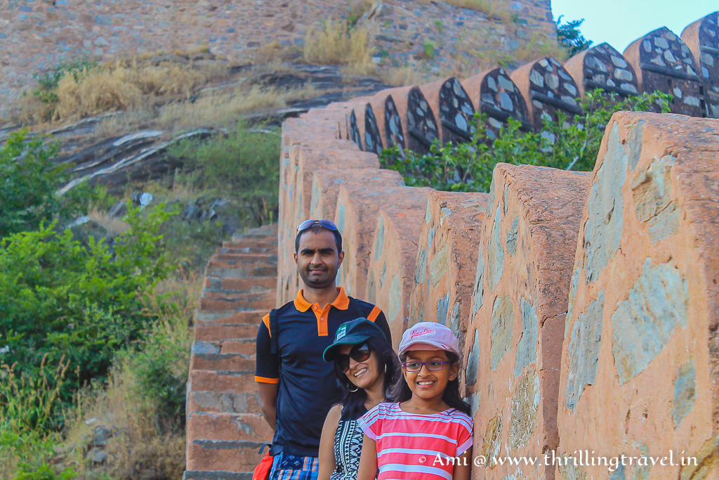 Along the Kumbhalgarh fort walls
