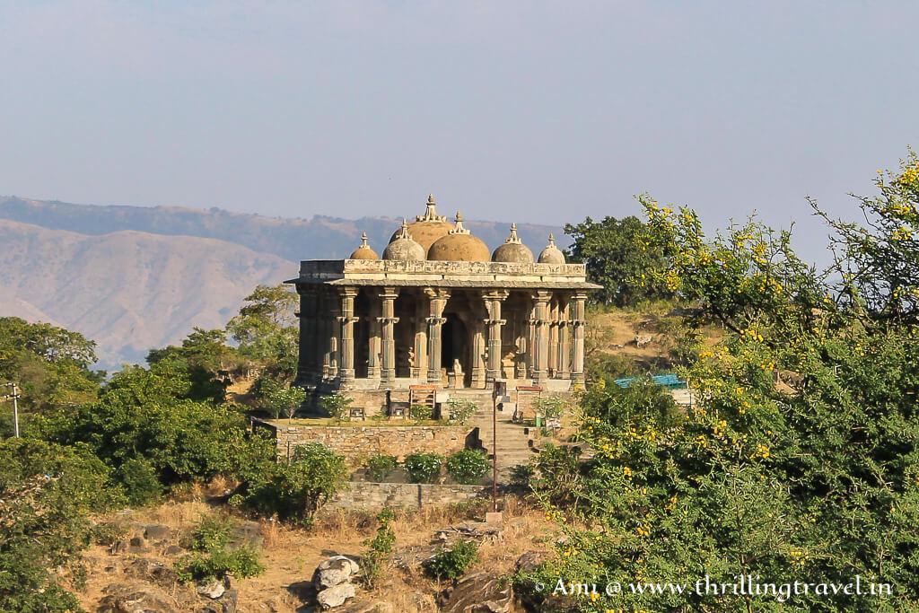 Neelkanth Mahadev temple within the Kumbhalgarh fort walls