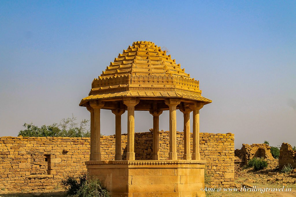 A Pavilion at Kuldhara Village of Jaisalmer
