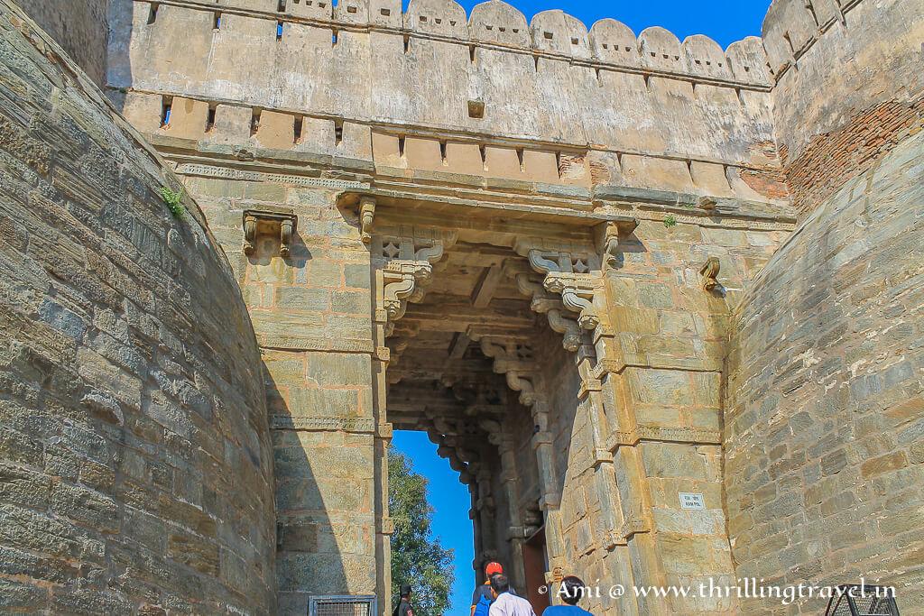 Ram Pol - the main entrance to Kumbhalgarh fort, Rajasthan