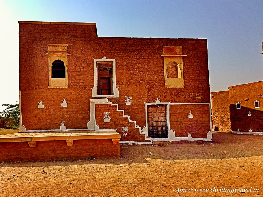 Reconstructed house in Kuldhara