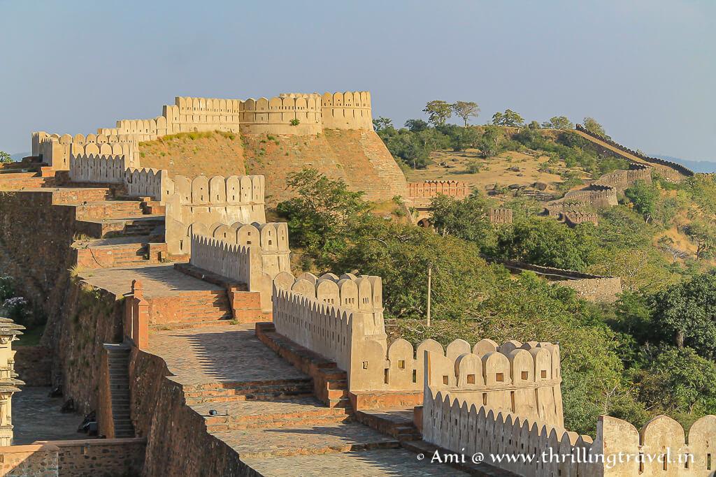 India's longest wall at Kumbhalgarh fort
