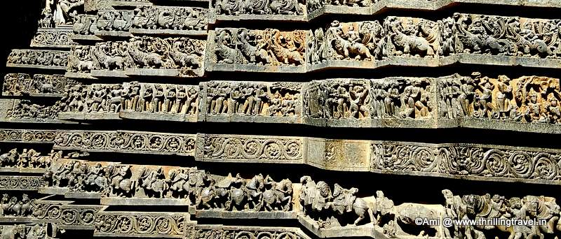 Depiction of  Ramayana on the walls of Hoysaleswara Temple, Halebid
