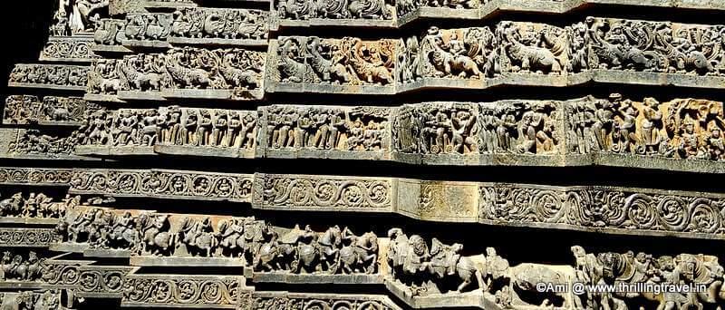 Depiction of Ramayana on the walls of Hoysaleswara Temple, Halebid