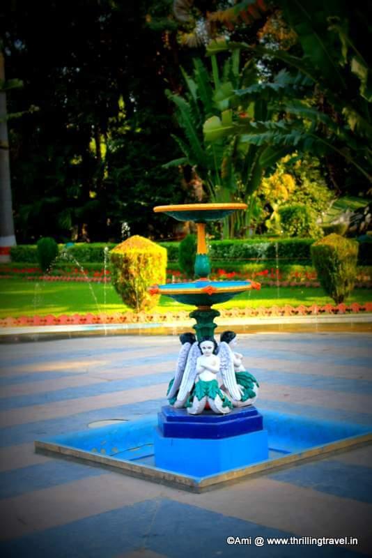 Cherub fountain at Saheliyon Ki Bari in Udaipur