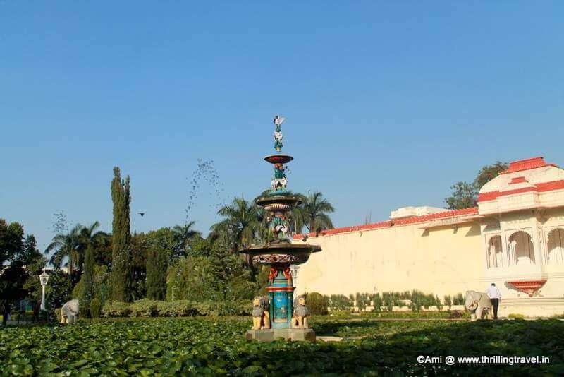 Kamal Talai or the Lotus Pond at Saheliyon Ki Bari, Udaipur
