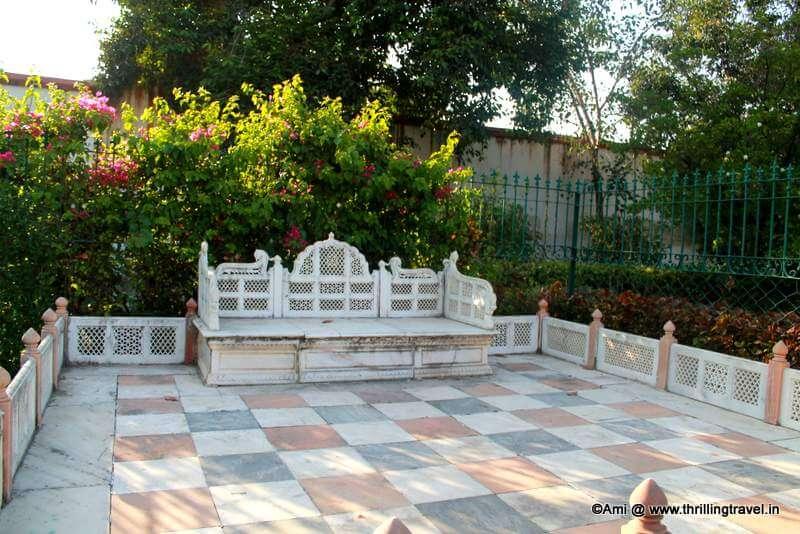 Marble Benches for the Royalty at Saheliyon Ki Bari, Udaipur