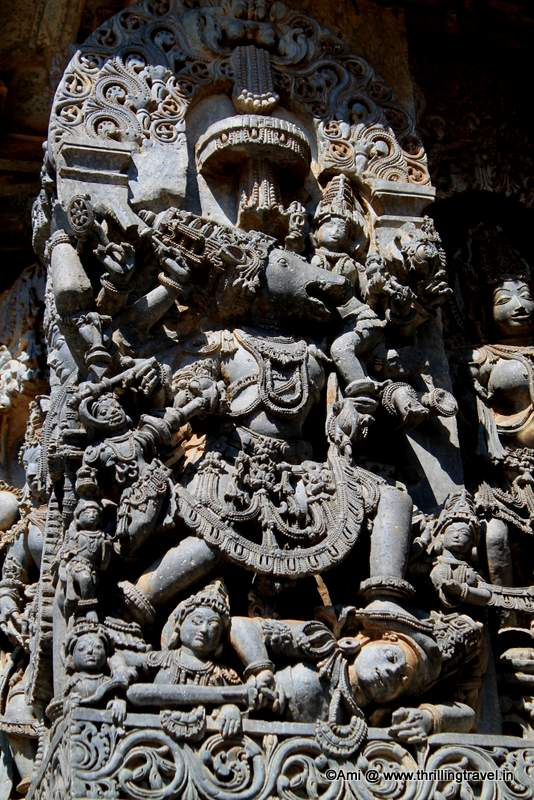 Varaha as depicted at Hoysaleswara Temple, Halebid