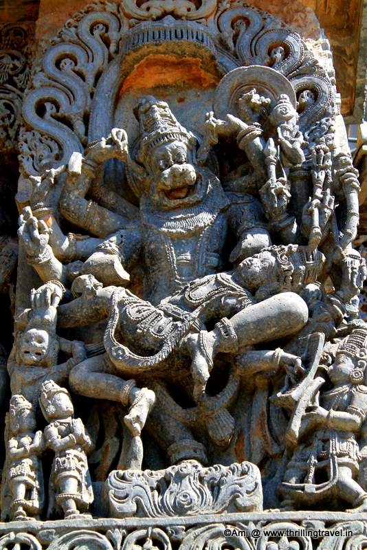 Narasimha Avatar at Hoysaleswara temple, Halebid