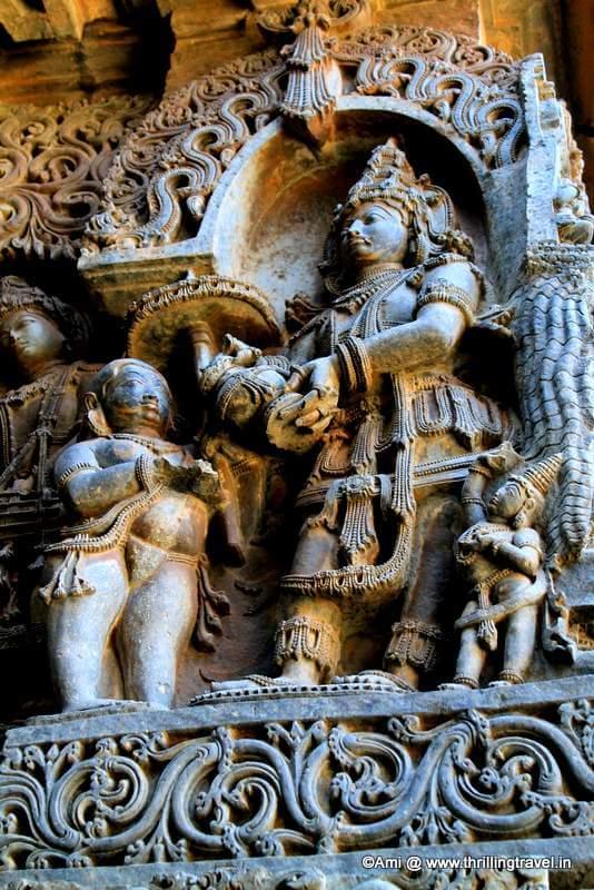 Vaman on Hoysaleswara Temple, Halebid