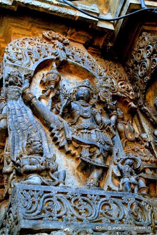 Vaman shown in his full form, Hoysaleswara Temple, Halebid