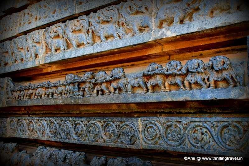 Kurma Avatar etched on the walls of Hoysaleswara temple, Halebid