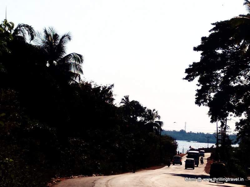 Towards the blue waters in Honnavar