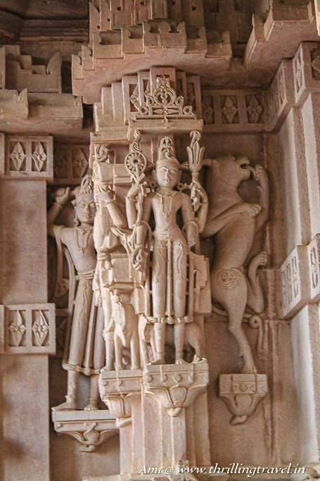 Carved Pillars of Maharaja Ajit Singh's Cenotaph, Mandore Gardens