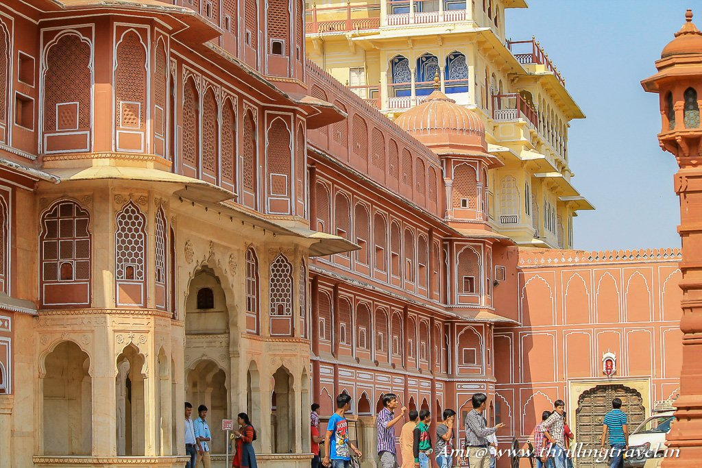 One of the most popular tourist attractions of Jaipur - The City Palace Jaipur