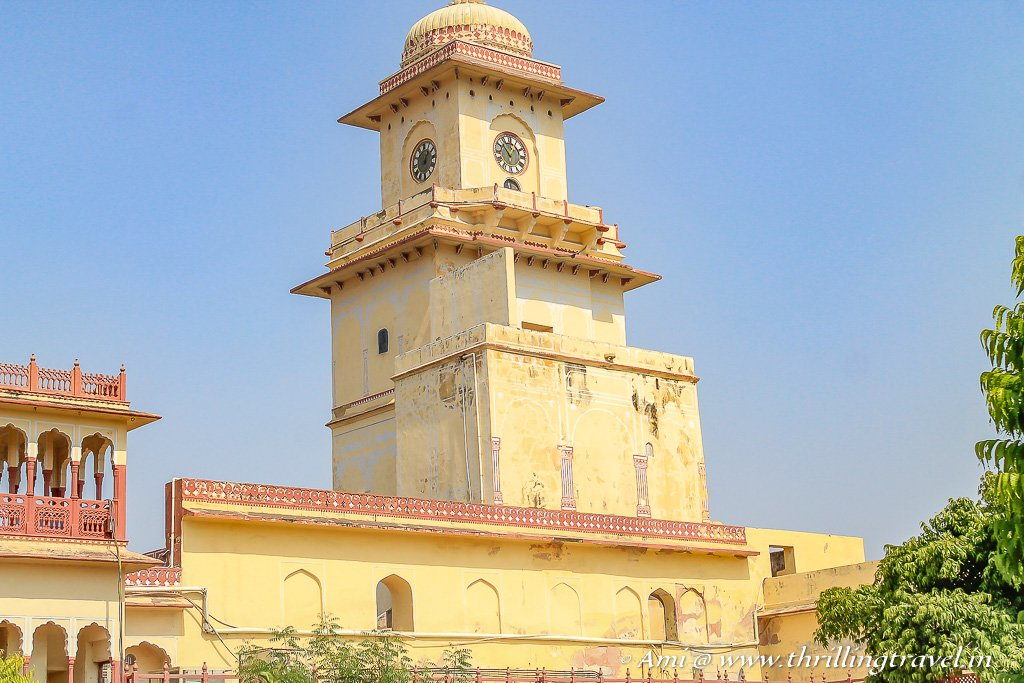 The clock tower of City Palace Jaipur