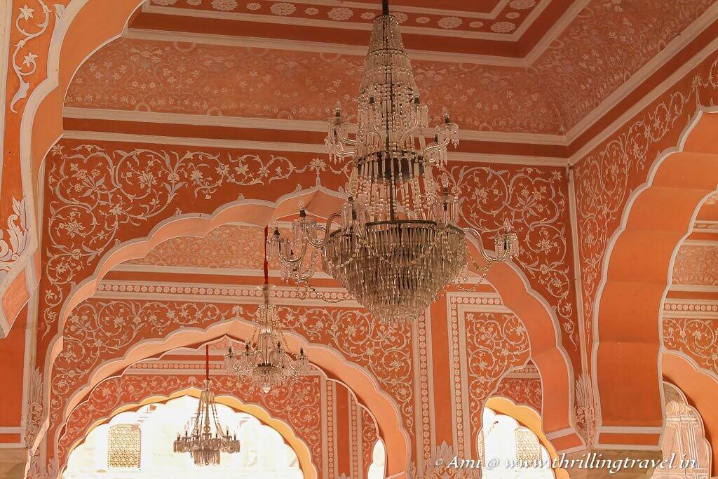 Chandeliers of Diwan-I Khas, City Palace Jaipur