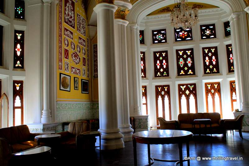 A section of the Durbar Hall at Bangalore Palace