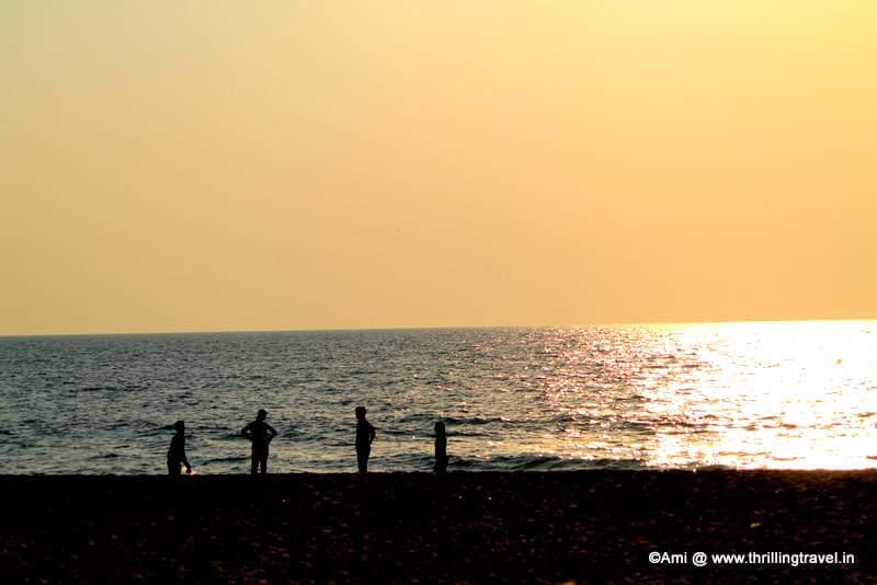 Apsarakonda Beach at Sunset