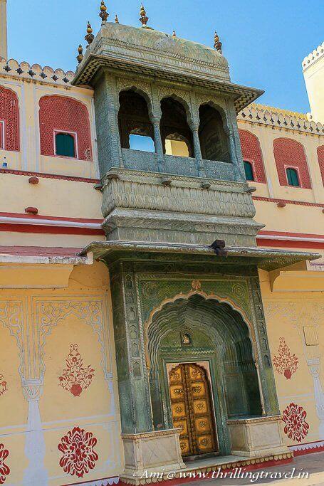 Green Gate (Spring Gate) at Pritam Niwas Chowk, City Palace, Jaipur