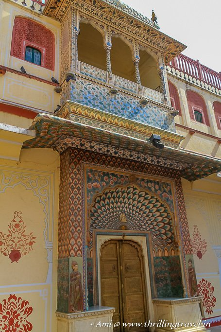 Lotus Gate (Summer Gate) of Pritam Niwas Chowk, Jaipur City Palace