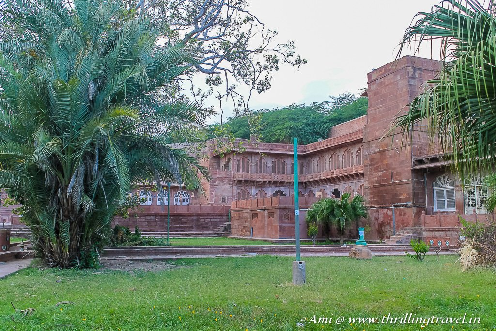 Remains of the old Mandore Palace in the gardens