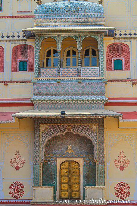 The Rose Gate (Winter Gate) of Pritam Niwas Chowk