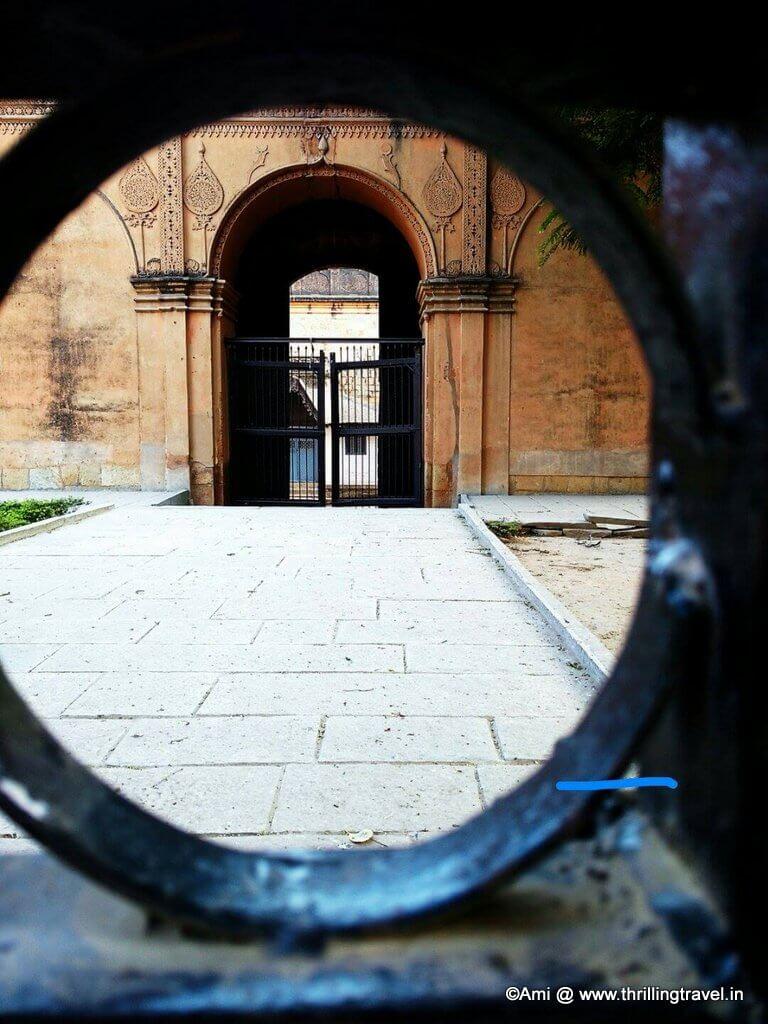 Bangalore Fort through the Closed Gates, Bengaluru .