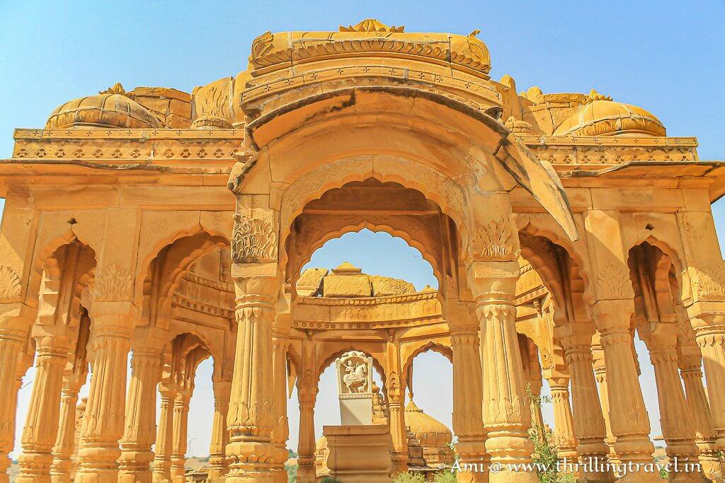 Crumbling Jaisalmer cenotaph of Mâhârawal Mooraj Sing Ji III