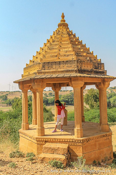 Smaller cenotaph of a prince at Bada Bagh, Jaisalmer