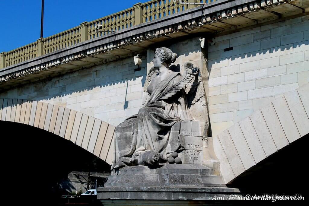 Artistic Bridges across The River Seine in Paris