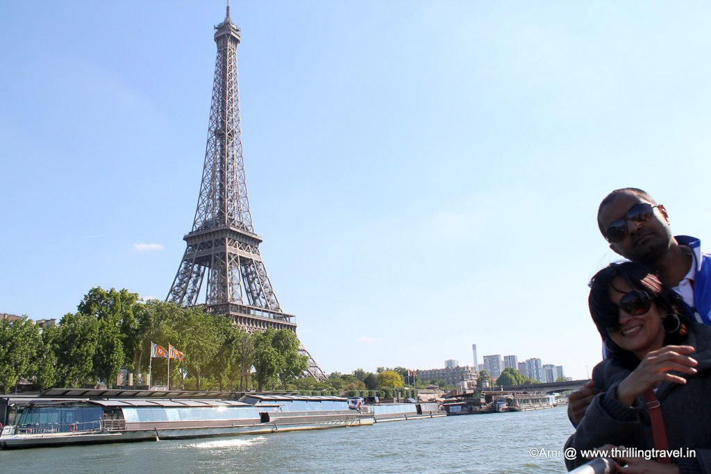Eiffel Tower from the River Seine, Paris