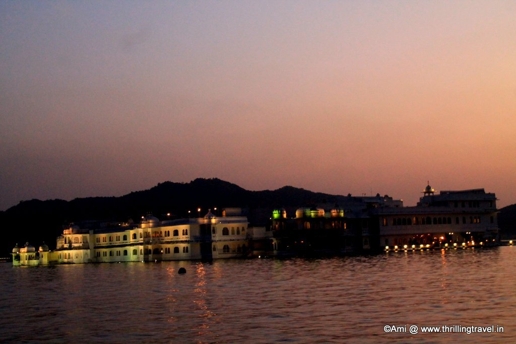 Lake Palace at dusk, Lake Pichola, Udaipur