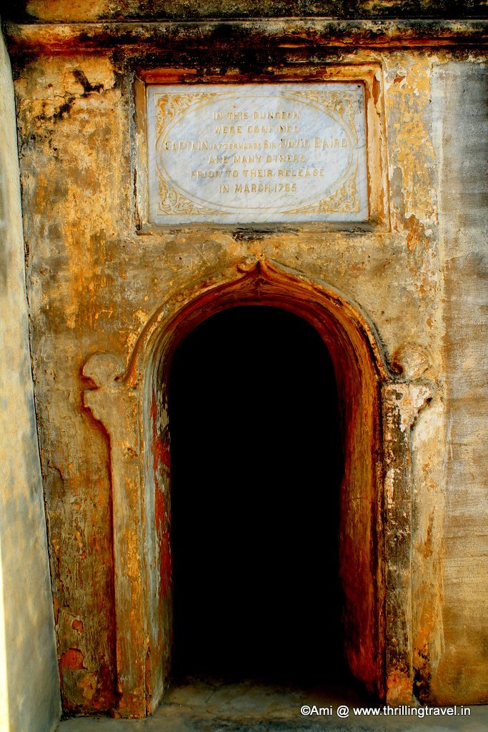 Steps down to the Dungeon of Capt. David Baird, Bangalore Fort, Bengaluru