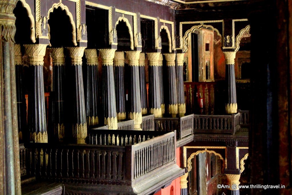 View of the public address Balcony from the Zenana Quarters of the Summer Palace of Tipu Sultan, Bengaluru