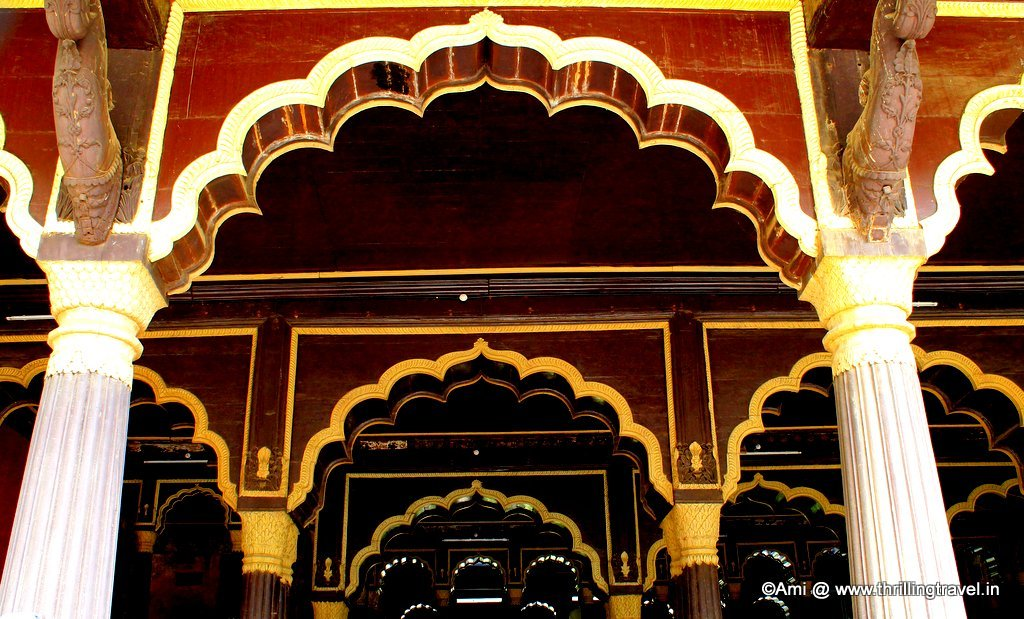 The arches and the brackets reflecting the Indo-Islamic architecture of the Summer Palace of Tipu Sultan