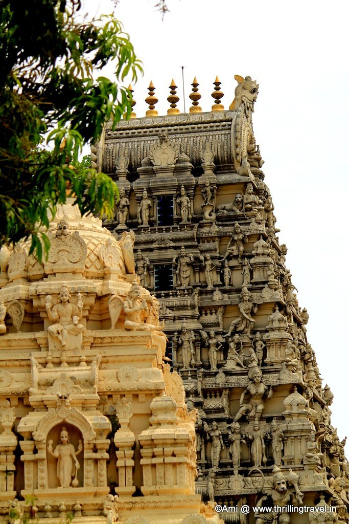 Venkateshwara Temple as seen from Tipu's palace in Bengaluru
