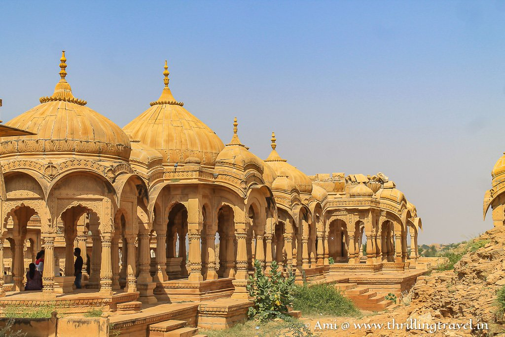 The majestic Jaisalmer cenotaphs at Bada Bagh