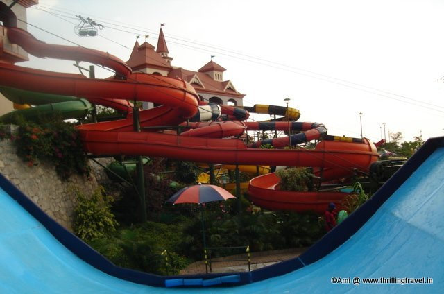 Wet Rides section of Wonderla, Bengaluru
