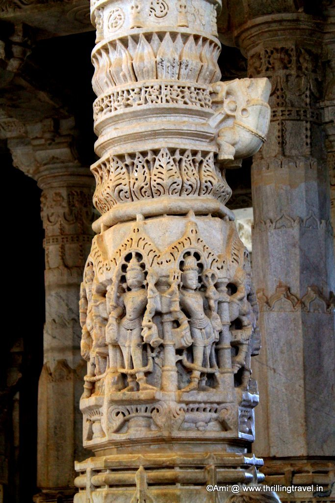 Pillar at Ranakpur Jain Temple