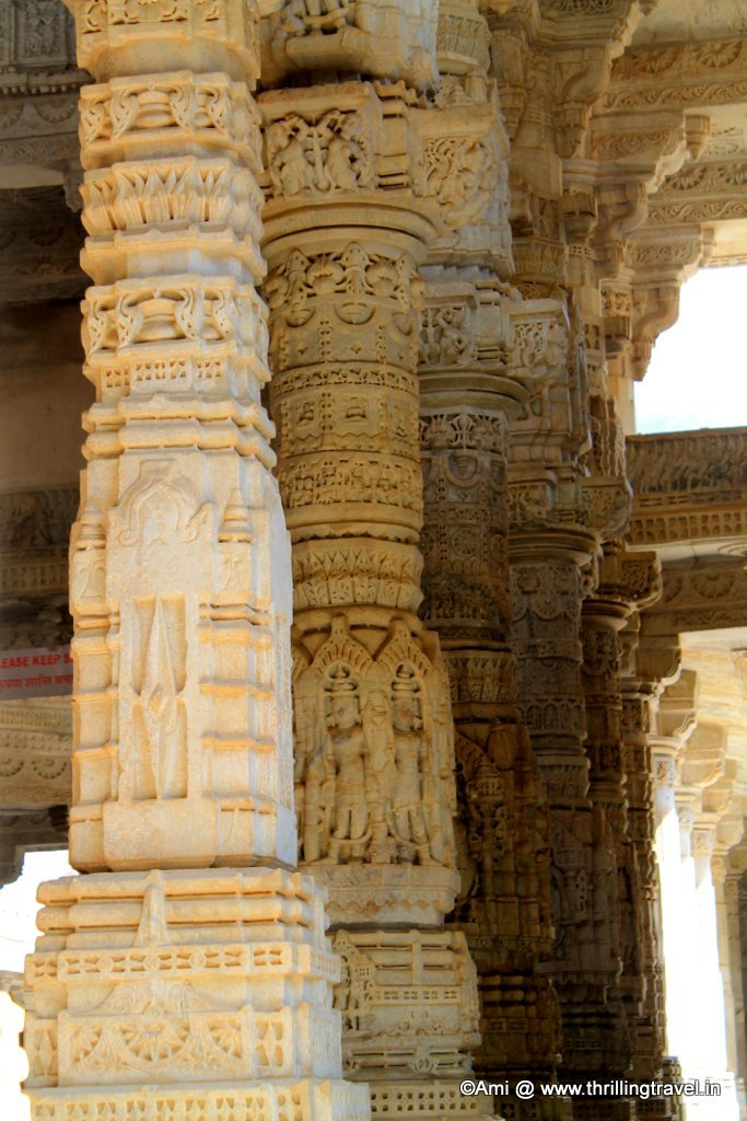 Pillars of Ranakpur Jain Temple